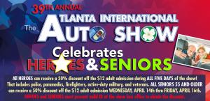 2021 Atlanta International Auto Show - Heroes & Seniors Discounts